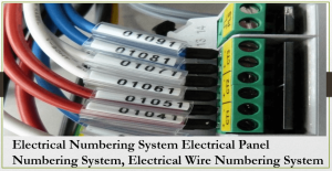 The numbering system for cables
